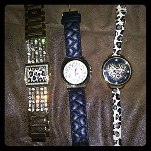 Betsy Johnson Leopard Watches